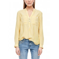Striped blouse with a notch neckline by Q/S designed by