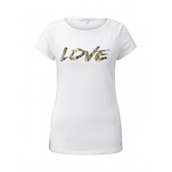 Jersey T-Shirt mit Schrift-Print by Tom Tailor Denim