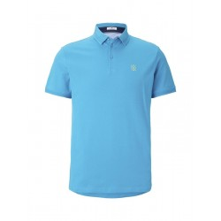 Simple polo shirt with a small print by Tom Tailor