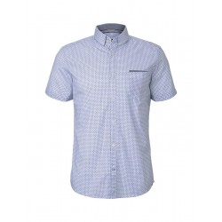 Patterned short-sleeved shirt with breast pocket by Tom Tailor