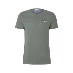T-shirt with a textured pattern by Tom Tailor