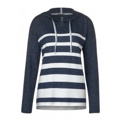 Hoodie shirt with stripes by Street One
