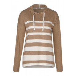 T-shirt hoodie à rayures by Street One
