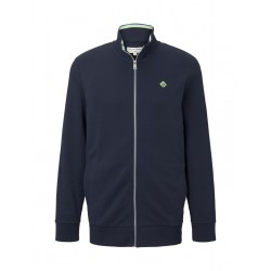 Sweat jacket with a stand-up collar by Tom Tailor Denim