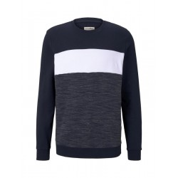Sweatshirt with colour blocking by Tom Tailor Denim