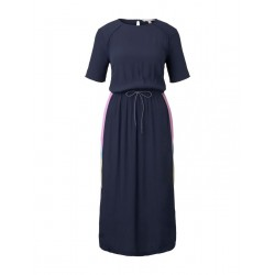 Midi dress with a drawstring on the waist by Tom Tailor Denim