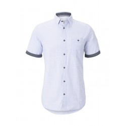 Short-sleeved shirt with all-over print by Tom Tailor