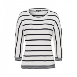 Striped Dolmansleeve Pullover by More & More