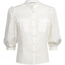 Blouse with Anglaise embroidery by Summum Women