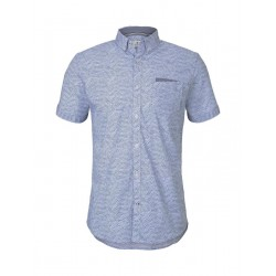 Patterned shirt with a chest pocket by Tom Tailor