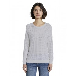 Basic jumper with a mesh structure by Tom Tailor Denim