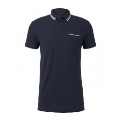 Polo shirt with contrasting stripes by Tom Tailor Denim