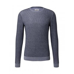 Knitted jumper in a structured mix by Tom Tailor