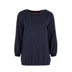 O-shaped blouse with 3/4-length sleeves by s.Oliver Red Label