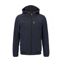 Softshell jacket with hood by Tom Tailor Denim