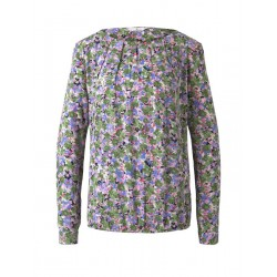 Printed blouse with an elastic waistband by Tom Tailor