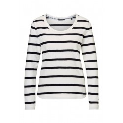Long-sleeve top with striped pattern by Marc O'Polo