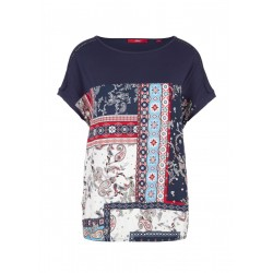 T-shirt de coupe boule en mélange de tissus by s.Oliver Red Label