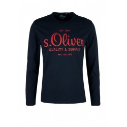 Langarmshirt mit Label-Print by s.Oliver Red Label