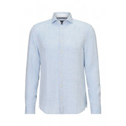 Shaped long-sleeved shirt Made from high-quality line fabric by Marc O'Polo