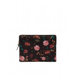 Tablet sleeve Black Flowers by WOUF