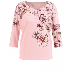 Jumper with 3/4-length sleeves and flower tendril by Gerry Weber Collection