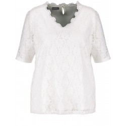 Elasticated lace top by Samoon
