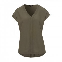 Crepe front v-neck shirt active by More & More