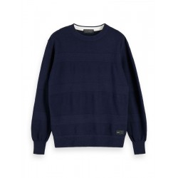 Strukturierter Streifenpullover by Scotch & Soda