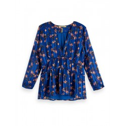 Flower printed blouse by Maison Scotch