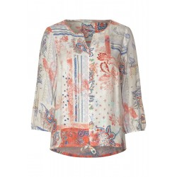 Patchwork Print Blouse by Cecil