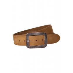 Suede Leather Belt With Frame by Street One