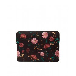 Black Flowers Laptop Sleeve by WOUF