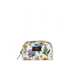 Cosmetic bag Black Flowers by WOUF