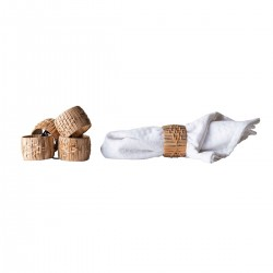 Set of 4 napkin rings by Bloomingville