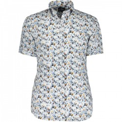 Poplin shirt with a botanic print by State of Art