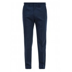 Slim Fit: Trousers with new wool by s.Oliver Black Label