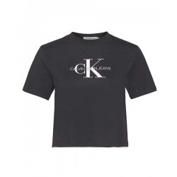 Cropped shirt avec logo by Calvin Klein