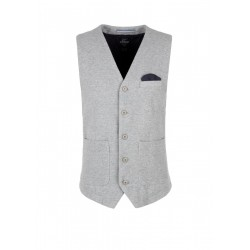 Waistcoat with a piqué texture by s.Oliver Red Label