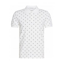 Slim all-over logo polo shirt by Calvin Klein