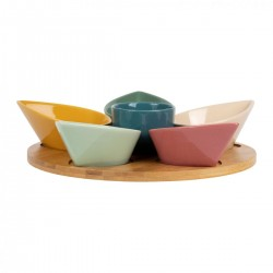 Tray with 6 cereal bowls (Ø31,5cm) by SEMA Design