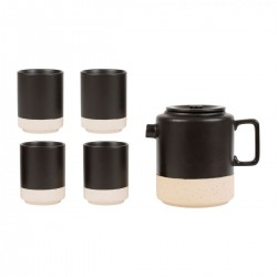 Gift box of teapot & 4 tumblers by SEMA Design