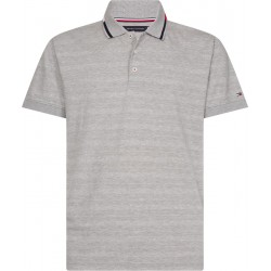 Mixed textured stripe polo by Tommy Hilfiger