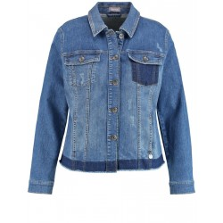 Denim jacket with contrasting details by Samoon