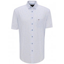 Short-sleeved shirt with a pattern by Fynch Hatton