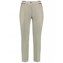 Trousers with an all-over pattern by Gerry Weber Collection