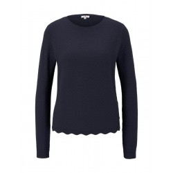 Sweater with ribbed hem edge by Tom Tailor