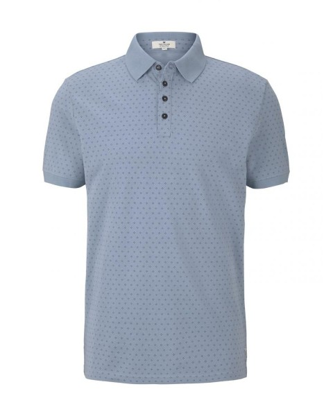 Polo shirt with an all-over print by Tom Tailor