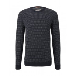 Gemusterter Strickpullover by Tom Tailor Denim