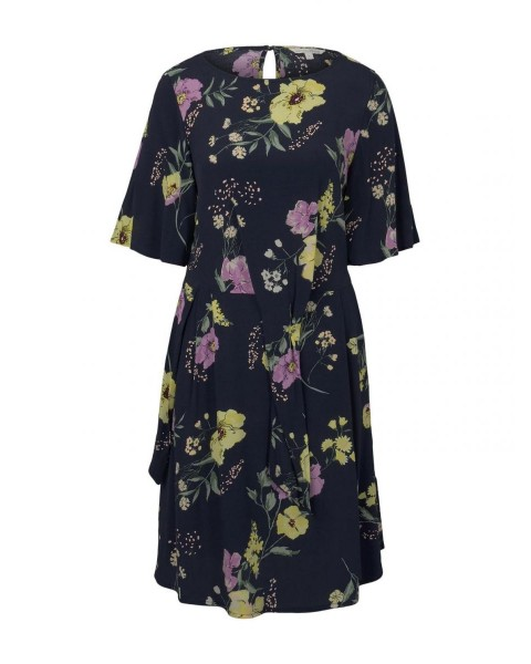 Mini dress with knot details in a floral pattern by Tom Tailor Denim